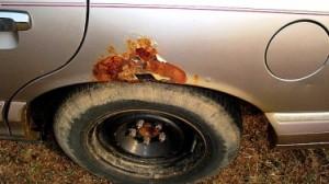 Причины автомобильной ржавчины